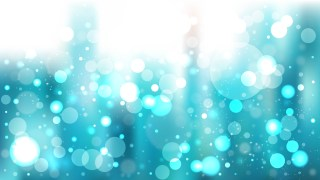 Turquoise and White Bokeh Defocused Lights Background Vector Art