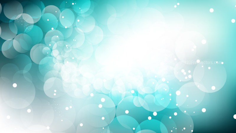 Turquoise and White Defocused Lights Background Design