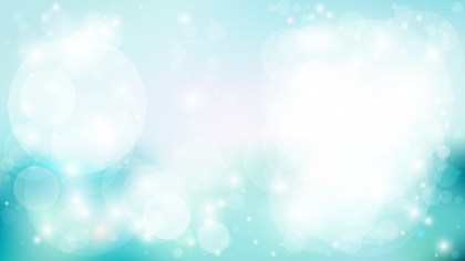 Turquoise and White Bokeh Background