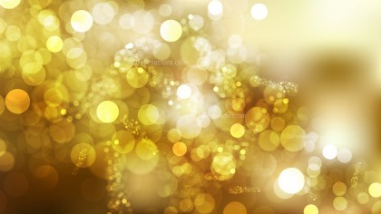 Abstract White and Gold Blurry Lights Background Vector Illustration
