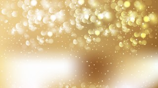 Abstract White and Gold Bokeh Defocused Lights Background