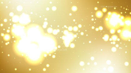 Abstract White and Gold Bokeh Background Illustrator