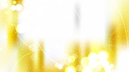 White and Gold Bokeh Background