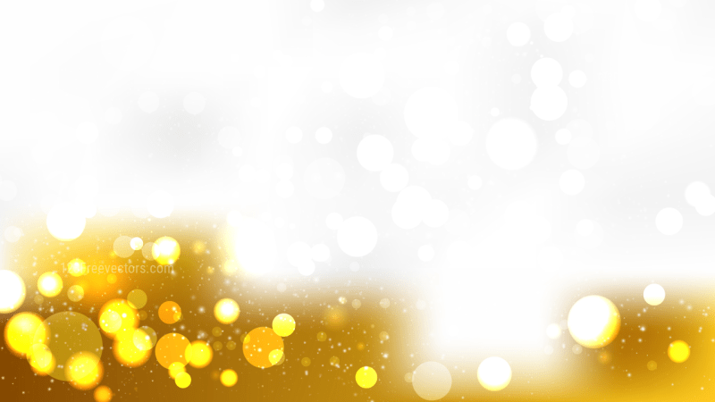 Abstract White and Gold Blurry Lights Background Vector Art