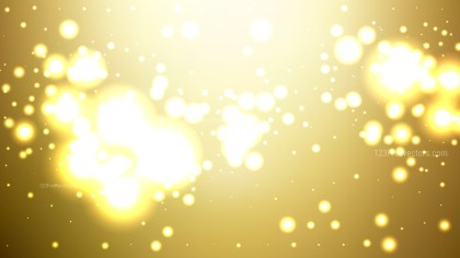 Abstract White and Gold Bokeh Defocused Lights Background Illustration
