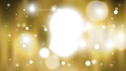 Abstract White and Gold Defocused Lights Background Vector Graphic