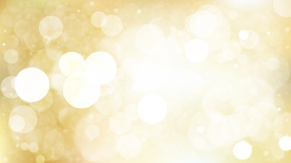 Abstract White and Gold Defocused Background