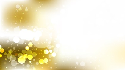 White and Gold Bokeh Lights Background