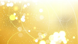 Abstract White and Gold Illuminated Background Vector Illustration