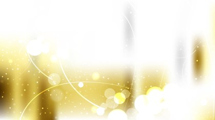 White and Gold Defocused Lights Background Vector Graphic
