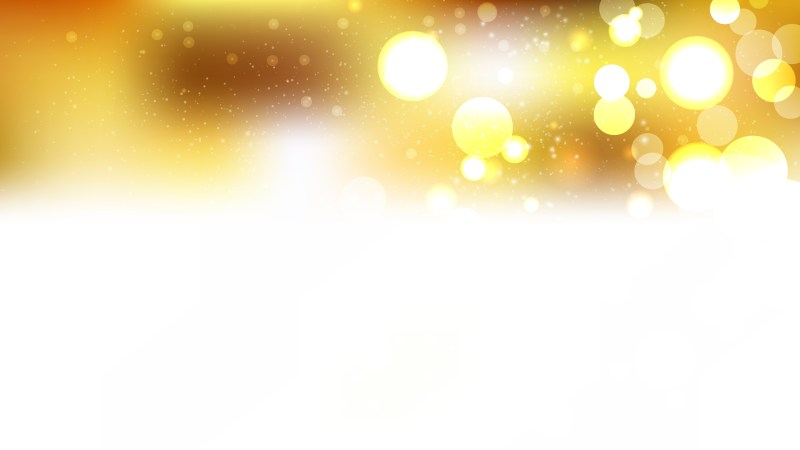 White and Gold Blurred Bokeh Background Illustration