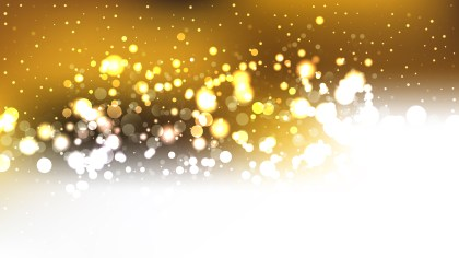 Abstract White and Gold Defocused Lights Background Graphic