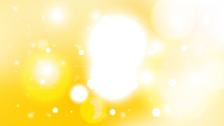 Abstract Yellow and White Bokeh Lights Background