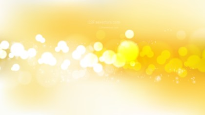 Abstract Yellow and White Bokeh Background Vector