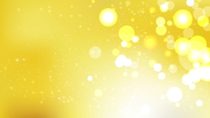 Abstract Yellow and White Bokeh Defocused Lights Background Vector Art