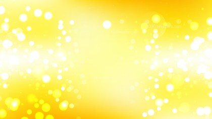Yellow and White Blurred Lights Background Design