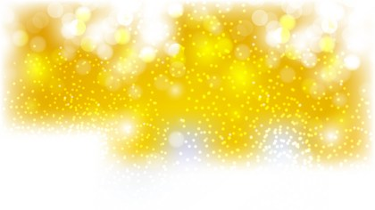 Yellow and White Bokeh Background Vector Graphic