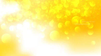 Abstract Yellow and White Blurred Bokeh Background Vector Art