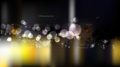 Yellow Black and White Defocused Lights Background Illustrator