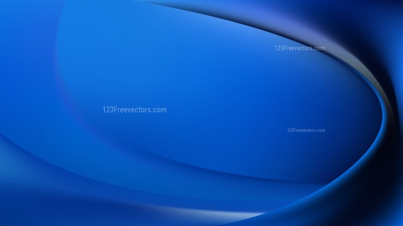 Abstract Black and Blue Wave Background Vector Illustration