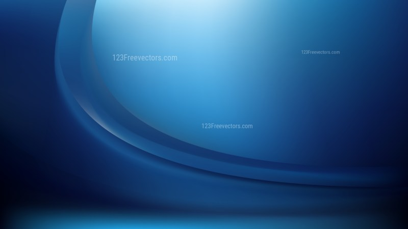 Abstract Black and Blue Shiny Wave Background