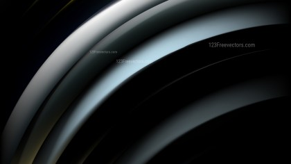 Abstract Black and Blue Shiny Curved Stripes Background Design Template