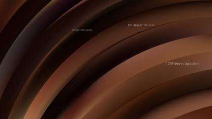 Abstract Black and Brown Shiny Curved Stripes Background Image