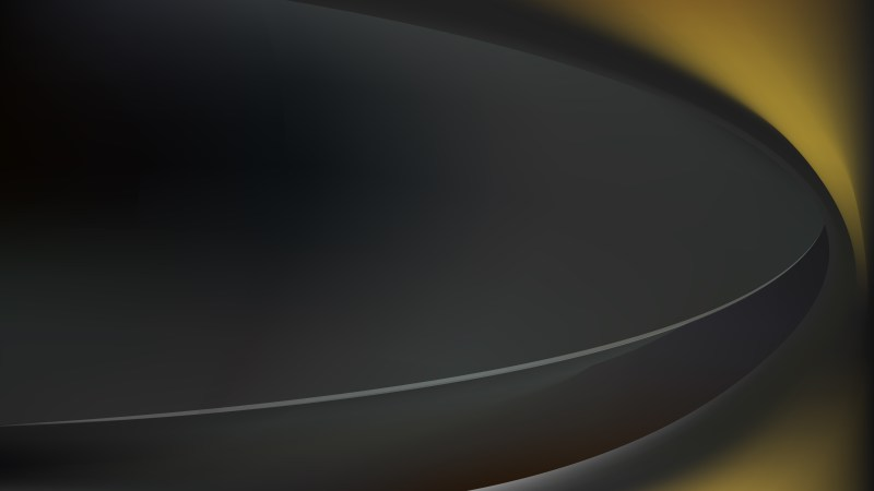 Black and Gold Abstract Curve Background Vector Image
