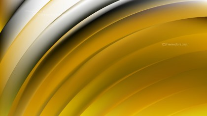 Abstract Black and Gold Shiny Curved Stripes Background