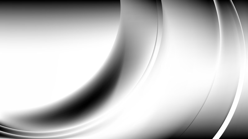 Glowing Black and White Wave Background