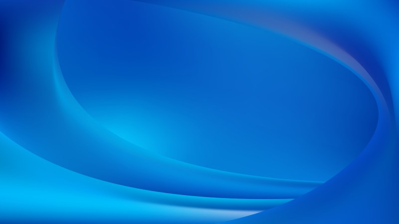 Abstract Blue Shiny Wave Background Vector