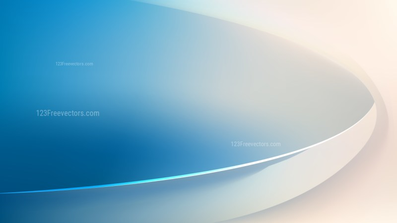 Abstract Glowing Blue and Beige Wave Background
