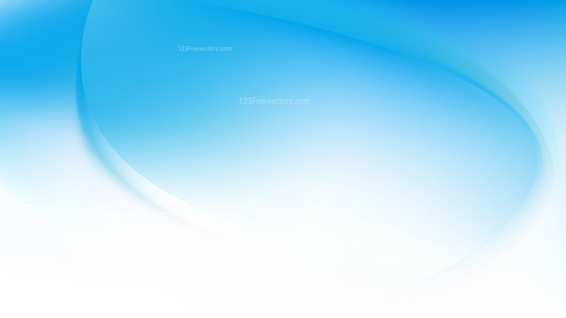 Blue and White Curve Background Vector Illustration