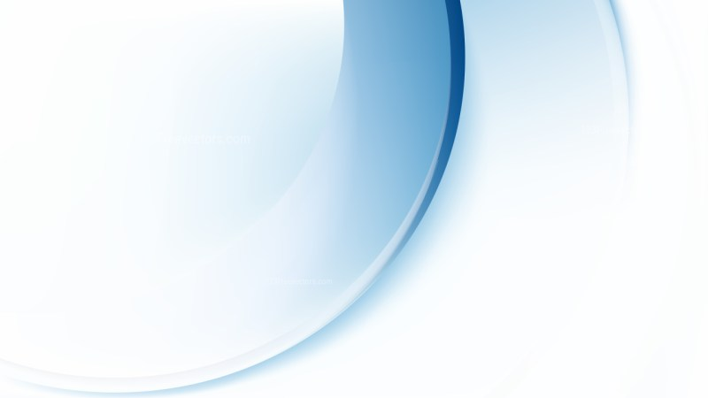 Blue and White Abstract Wave Background