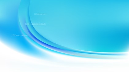 Blue and White Abstract Curve Background Vector Illustration