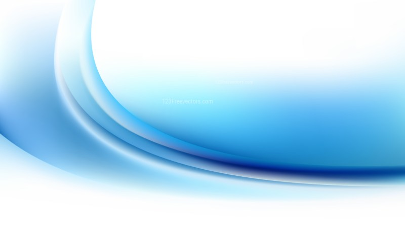 Glowing Abstract Blue and White Wave Background Design