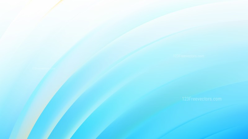 Abstract Blue and White Shiny Curved Stripes Background