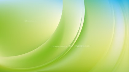 Blue Green and White Wave Background Template Vector Graphic