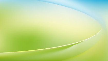 Blue Green and White Abstract Wave Background Template Graphic