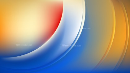 Abstract Blue Orange and White Wave Background Template Design