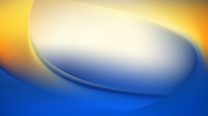 Abstract Blue Orange and White Wavy Background