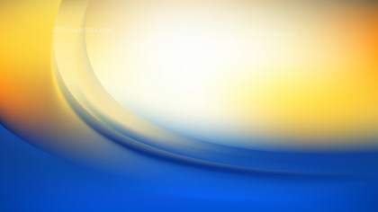 Abstract Blue Orange and White Shiny Wave Background