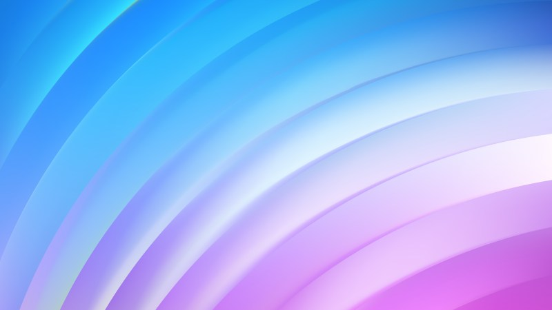 Abstract Blue Purple and White Curved Stripes Vector Illustration