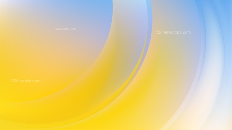 Abstract Blue Yellow and White Wavy Background Vector Graphic