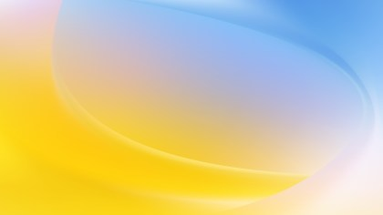 Blue Yellow and White Abstract Wave Background Vector Image