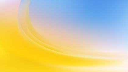 Abstract Blue Yellow and White Wavy Background Vector