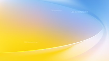 Abstract Blue Yellow and White Curve Background