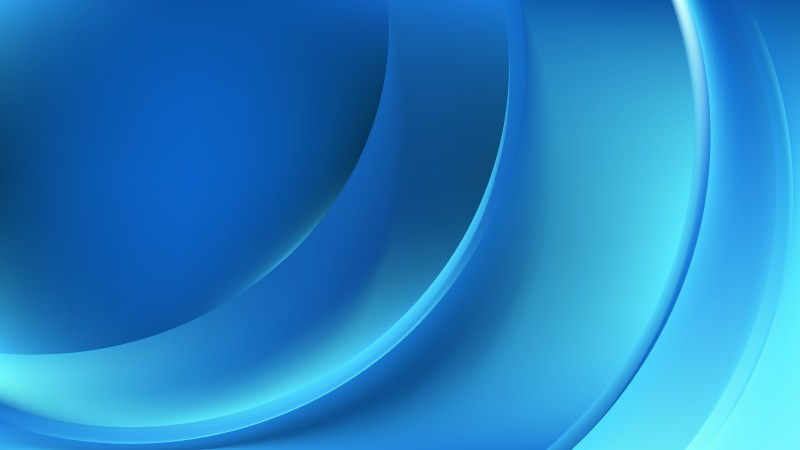 Bright Blue Abstract Curve Background
