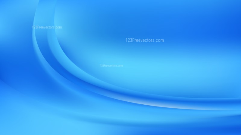 Bright Blue Abstract Wave Background Vector Image
