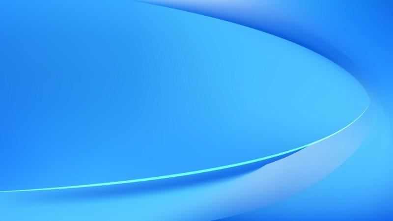 Bright Blue Wavy Background